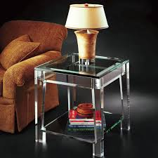 Lamp Tables Living Room Furniture Modern Glass Materials Design For Modern Unique End Table Ideas
