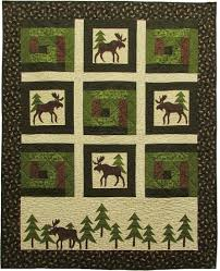 Moose on the Loose - Moose in the Cabin Free Quilt Pattern ... & Moose on the Loose - Moose in the Cabin Free Quilt Pattern Adamdwight.com