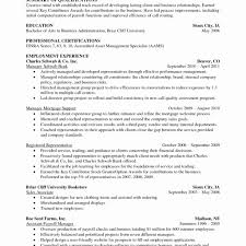 Financial Advisor Resume Sample New Skills And Abilities For Resume