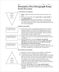 essay outline example samples in pdf word persuasive essay outline example