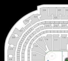 Nashville Predators Bridgestone Arena Seat Chart Full Size