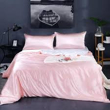 silk duvet covers contrast color cover china