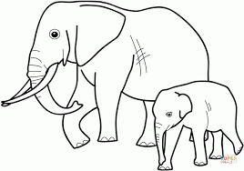 coloring pictures of elephants 2. Brilliant Coloring Click The Baby Elephant With Mother Coloring  Throughout Coloring Pictures Of Elephants 2 O