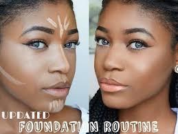 how to contour highlight foundation for black women makeup tutorial 2016 dark skin you