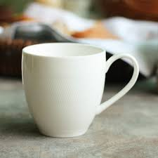 european cup office coffee. White Ceramic Cup Custom Logo Coffee Office European Retro Breakfast Milk L