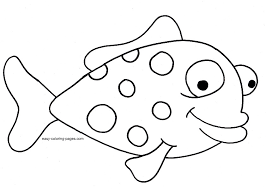 Small Picture Easy Fish Coloring Pages Coloring Pages