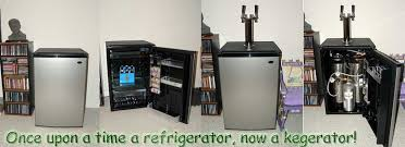 picture of how to build a kegerator kit or homebrew kegerator from a sanyo mini