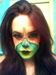 this is a very easy makeup application using liquid latex using a small brush apply the