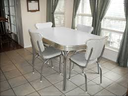 White Leather Kitchen Chairs Kitchen Wonderful Retro Kitchen Furniture Ideas With White