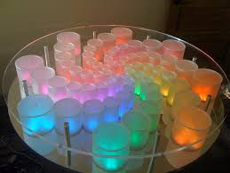 plexiglass table top round