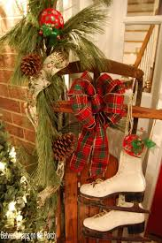 ... Fantastic Look Of Christmas Decorations For Front Porch : Chic Look Of  Christmas Decorations For Front ...