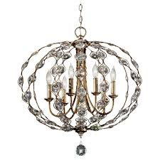feiss leila 6 light burnished silver chandelier