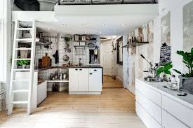 apartment kitchen ideas. Simple Apartment A Cool Tiny Studio Apartment With Chesterfield Sofa And Loft Bed  Inspiration Of Kitchen In Ideas I