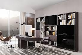 Side Cabinets For Living Room Modrest Ezra Modern Brown Oak And Grey Office Desk W Side Cabinet