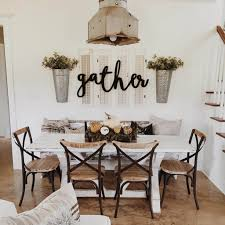 Beautiful Dining Room With Farmhouse Decor