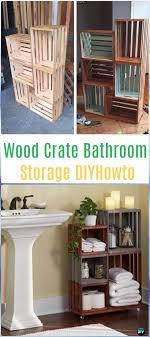 diy wood crate bathroom storage instructions diy wood crate furniture ideas projects
