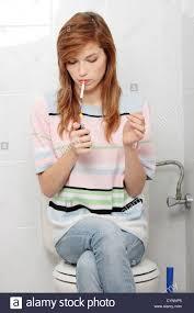 Bathroom girl in teen