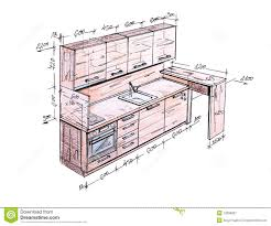 interior design sketches kitchen. Interior Design Drawings Sketches Kitchen Technical Drawing Of A Generated