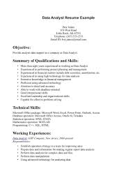 data analyst resume example examples of resumes