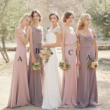 Simple Elegant Simple Elegant Lavender Bridesmaid Dresses Long Blush Bridesmaid