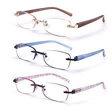 feivsn 3 pack rimless reading glasses