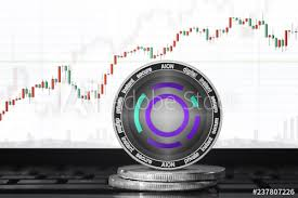 Aion Aion Cryptocurrency Aion Coin On The Background Of