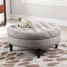 large round ottoman coffee table large tufted ottoman coffee table oversized