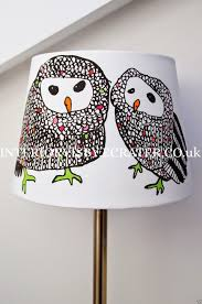 owl lamp shades shade children s purple nursery room decor 12 and