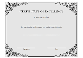 Certificate Of Excellence Template Word Certificate of Excellence The Best Template Collection 42