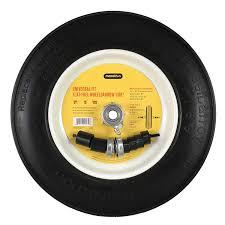 Wheelbarrow Tire Size Chart Universal Fit Flat Free Wheelbarrow Tire And Wheel Assembly With Adapter Kit