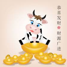 The commonly known new year calendar counts from the new year's eve to the lantern festival on february 26th 2021. Ox Cartoon In Pile Of Gold For Chinese New Year Download Free Vectors Clipart Graphics Vector Art