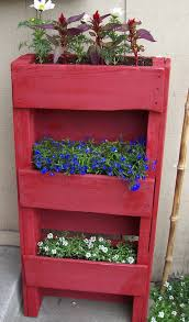 Image result for pallet planter red white blue