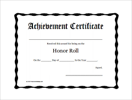 Award Certificate Template Free A Honor Roll Certificates Printable Rome Fontanacountryinn Com