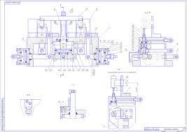 Станок агрегатный модели ИА Станки Чертежи в масштабе ру Станок агрегатный модели 1580 ИА