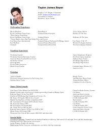 dancer resume example template dancer resume example