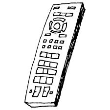 テレビのリモコンのフリーイラスト フリーイラストクラシック
