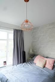 Next Bedroom Wallpaper Wall Inspo White Gray Brick Wallpaper Accent At Head Of Bed Wall