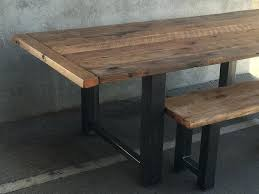 reclaimed wood and metal dining table custom reclaimed wood and metal dining table reclaimed wood and