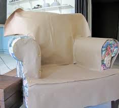 blog armchair and ottoman slipcover tutorial