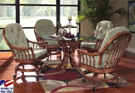 interiors winsome dining room sets with caster chairs rolling unlikely walnut grove wicker model 3463 by