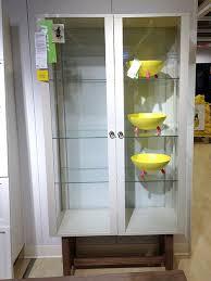 stockholm glass door cabinet