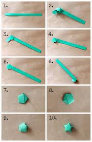Diy Origami Star Garland Crafts Origami Anleitungen
