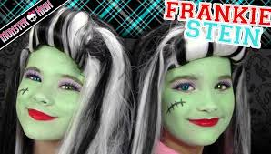 frankie stein monster high costume makeup tutorial for kittiesmama bratayley you