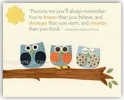 Owl Bedroom Decor Kids Nursery Wall Art Print Baby Room Decor Elephant First We Had