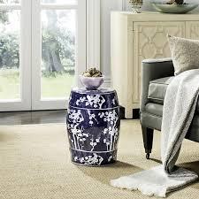 blue garden stool. Safavieh Midnight Kiss Blue Garden Stool