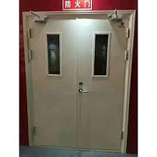 double leaf steel fire door