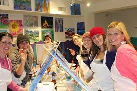 burlington s new paint sip studio is located on the church street marketplace and allows painters to take cl while enjoying beer and wine