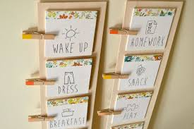 Diy Daily Routine Chart For Kids Daily Routine Chart