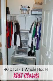 40 Days 1 Whole House Day 18 Kids Closets Organize 365