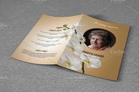 Funeral Pamphlet Templates Interesting Funeral Program TemplateV48 Creativework48 Templates